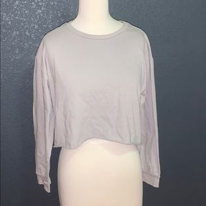FOREVER 21 GREY LONG SLEEVE TEE SHIRT SIZE SMALL